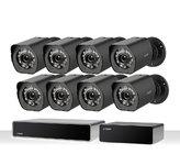 Zmodo ZS-2NL8-B Full HD 1080p sPoE Camerasysteem Zwart