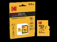 Kodak EMTEC Premium 64 GB micro SD kaart + adapter