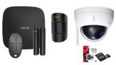 Ajax Hubkit Zwart met Dahua PTZ IP Camera Zwart