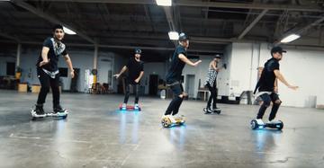 Hoverboard kunst: de hoverboard dance-over
