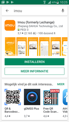 Stappenplan Dahua installatie - Download en installeer de app