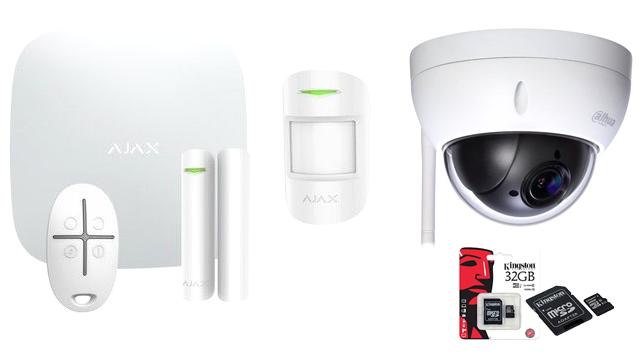 Ajax Hubkit Wit met Dahua PTZ IP Camera